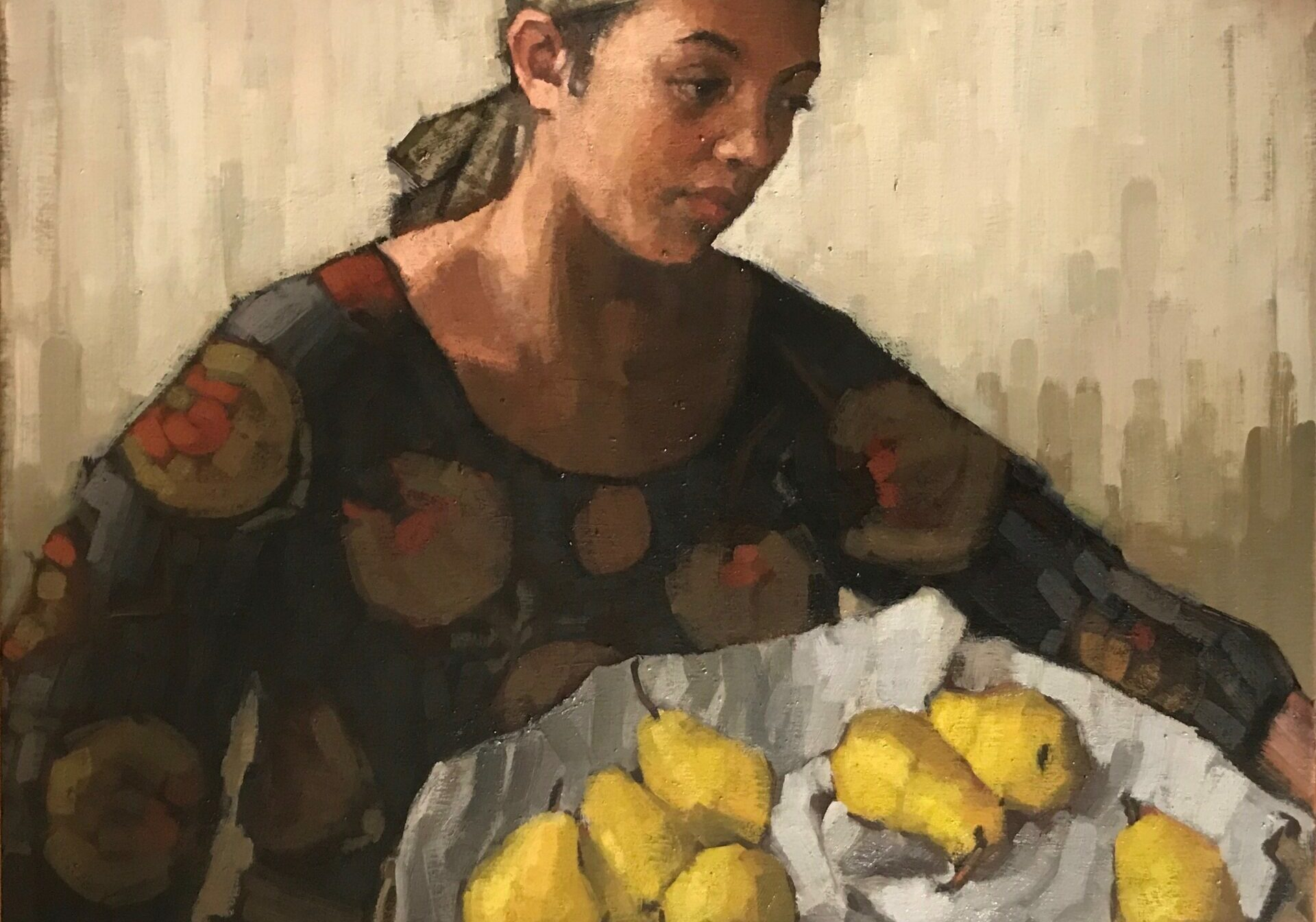 Iris Holding Pears (WH)